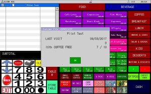 Uniwell Lynx provides extensive Customer Management features for Melbourne cafes and restaurants