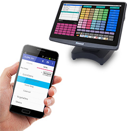 Hand held table ordering for restaurants cafes bistros
